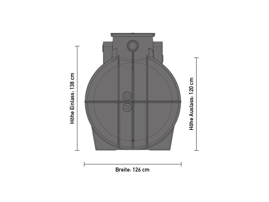 Erdspeicher RTMO 2000 Liter