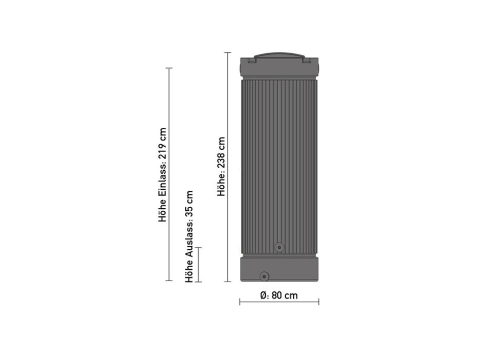 Relativ Regensäule 1000 Liter anthrazit, Regentonne ZW52