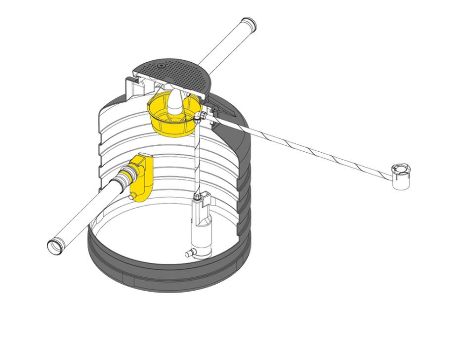 Mini underground tank tank kit, 500 litres